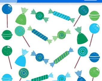 Candy Digital Clipart Set. Blue Candy Clipart. Green Candy Clip Art. Candy Vectors. Sweets Clipart. Confectionary Clipart. Sweets Vectors.