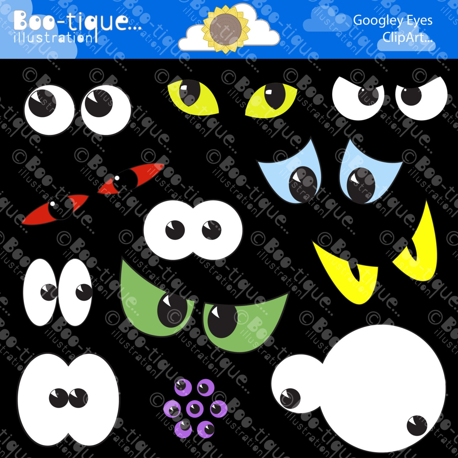 Clip Art Spooky Eyes Clip Art halloween eyes digital clipart spooky clip art vectors halloween