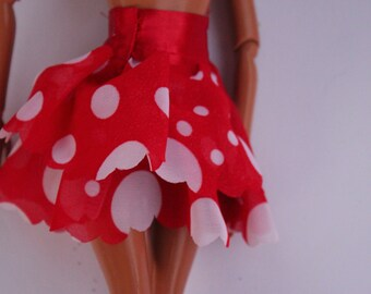 11.5 inch dolls clothes - polkadot skirt (11)