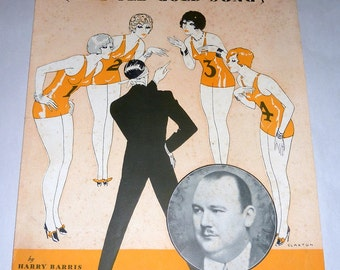 "Charming Vintage 1929 Sheet Music - Number ""3""  The Old Gold Song"