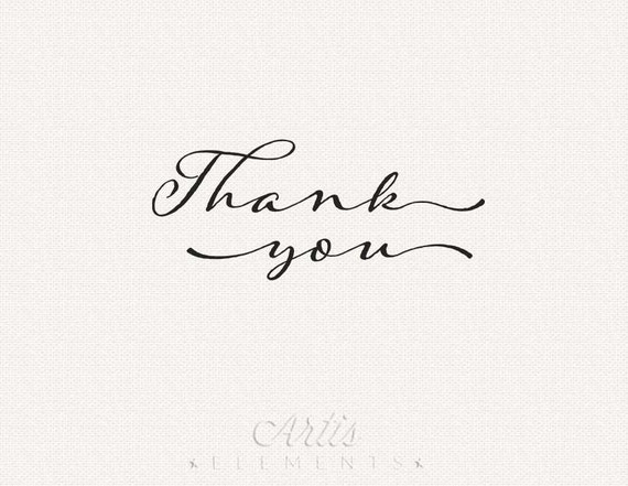 Thank You Typography Script Printable on instant clear reviews at