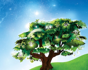 Imaginary Magical Mystical Abstract Tree Illustration