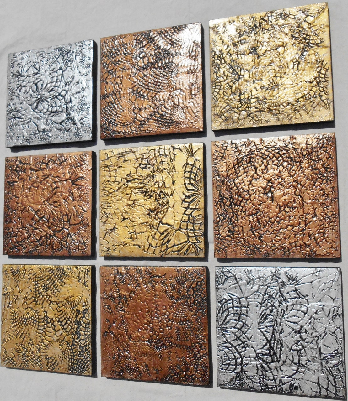 Textured Wood Wall Art Abstract Multi Panel Paintings