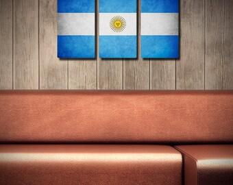 The Original Argentina Flag Triptych