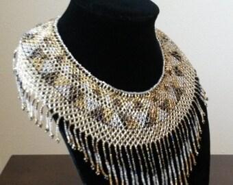 Beaded big statement necklace
