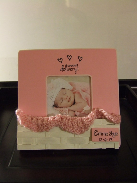 Baby Gifts For New Grandparents : Personalized baby gift girl frame shower by