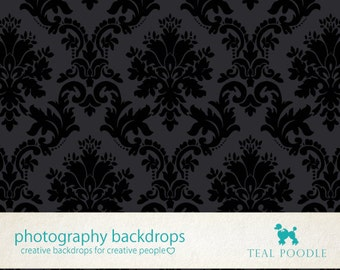 Midnight Damask Photography Backdrop For Portrait And Prop Photo Backdrop