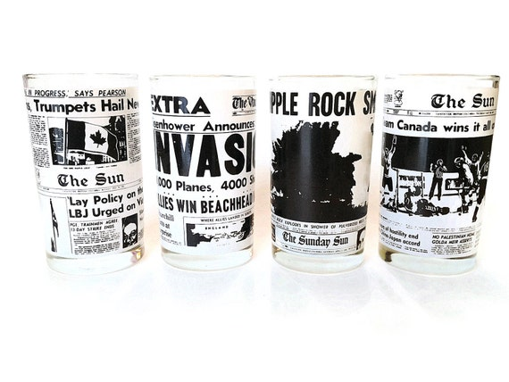 Highball Bar Glasses, Headlines from the Vancouver Sun, 1944- 1972, S/4