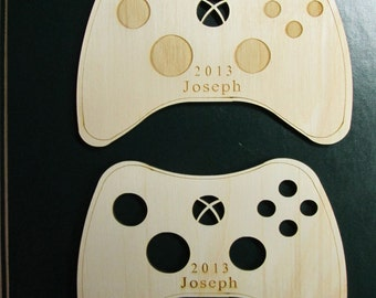 Laser-cut personalised wooden XBOX  Ornament