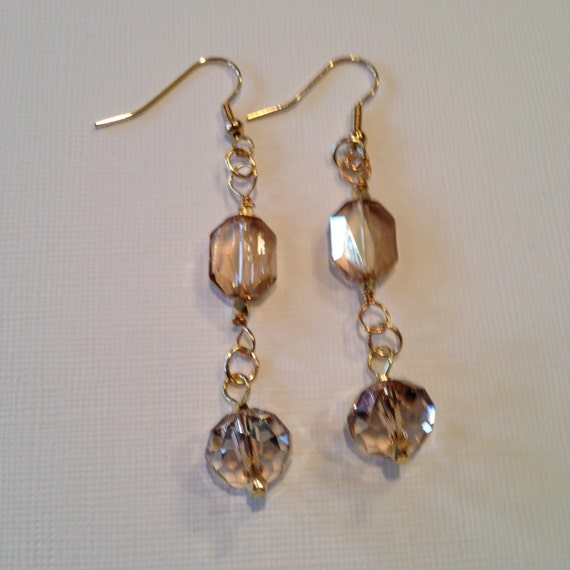 Swarovski crystal earrings.