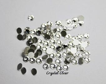 5ss 7ss 9ss CRYSTAL CLEAR Swarovski Crystal Flatback Rhinestones. ss9  ss7 ss5  5ss 7ss 9ss Foiled. No-Hotfix. Item 2058.