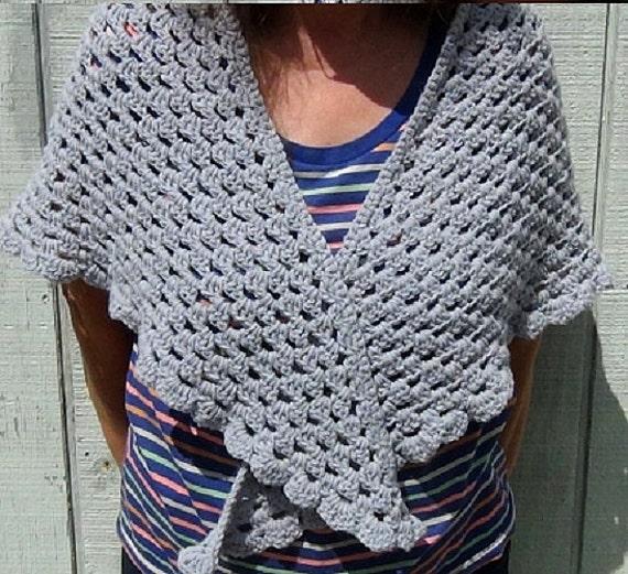 Double Crochet Triangle Shawl Pattern : Womens Shawl Granny Shawl Fashion Shawl by MainelyHandcrafts