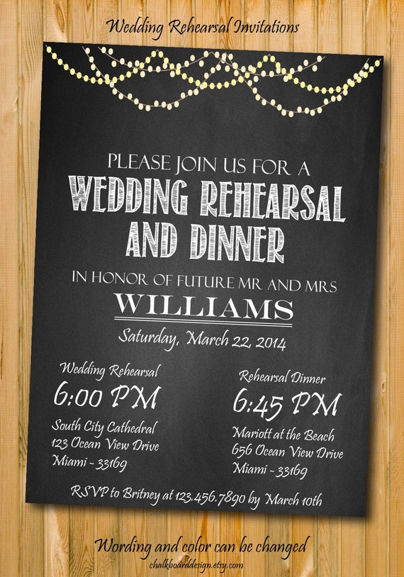 Dynamite image for printable rehearsal dinner invitations