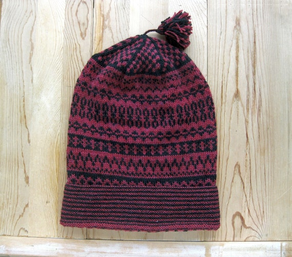 Traditional Swedish knit cap. Pattern is from by MarysScandKnits