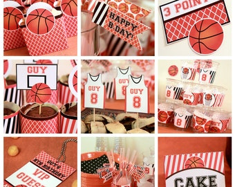 Basketball Birthday - Basketball Party Decorations - Basketball Birthday Printables - Basketball Party Printables (Instant Download)
