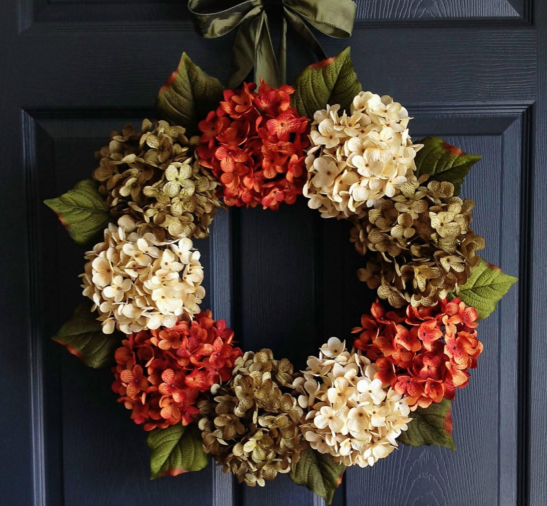 Autumn Hydrangea Wreath Fall Wreaths Wreaths For Door