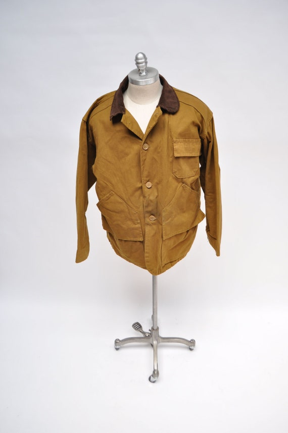 vintage jacket shooting 1960s canvas large