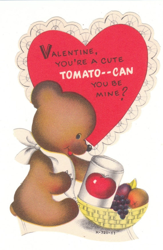 Valentines Day Bears Vintage Cards – Bear Valentines Card