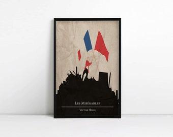 Les Miserables Print - Minimalist Poster - Alternative - Victor Hugo