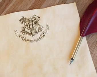 Magical crest stationery stained paper - Wizard school writing equipment