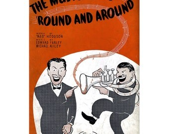 Vintage Sheet Music - The Music Goes Round and Round