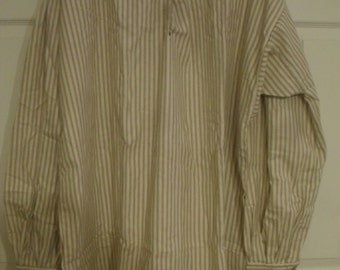 Hand sewn 18th and 19th century men's cotton shirt