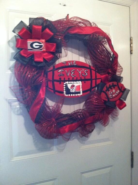 Georgia Bull Dawgs Wreath,Dawgs Wreath, Georgia Wreath, Bull Dawgs Football Wreath, Colligate Wreaths