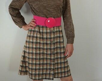 60s Mod Dress//Tweed Dress//Brady Bunch Dress//Polyester Dress
