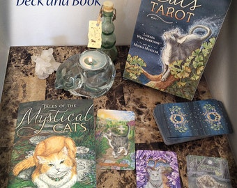 Mystical Cats Tarot Deck and Companion Book