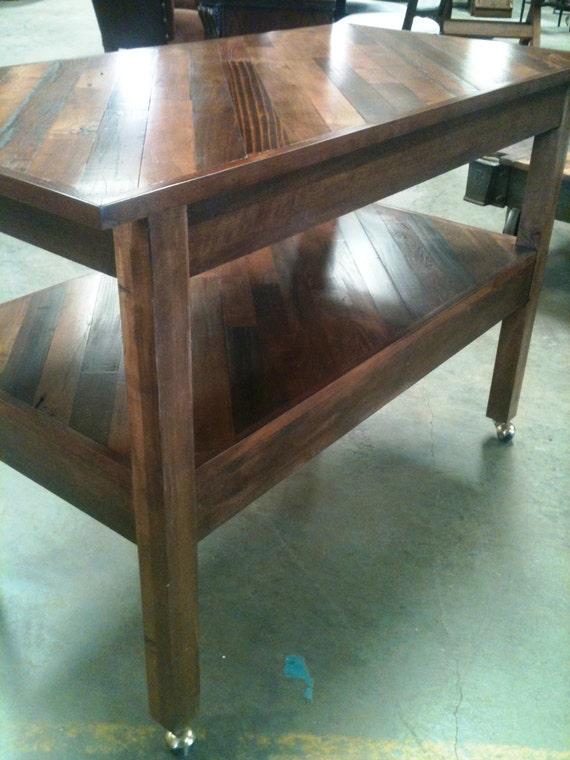 B & S Furniture Custom Kitchen Island on Casters