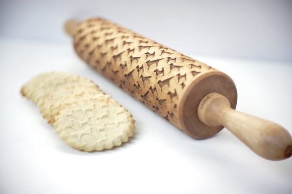 Embossing rolling pin - Dog pattern