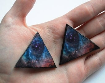 collar tips, collar tip, collar clip, collar brooch, nebula brooch, nebula pin, cosmic pin, cosmic brooch, galaxy brooch, galaxy pin