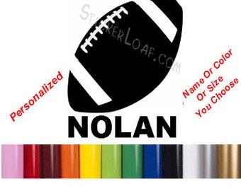 Nfl Decals Sticker Etsy - Football custom vinyl decals for cars