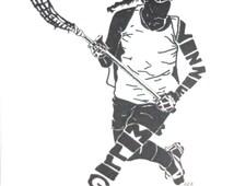 Women's Lacrosse Silhouette