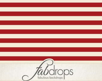 Red Nautical Striped Sailor Backdrop - Red Stripes Photography Background Perfect For Your Baby Sailor, Kids, Photo Shoots (FD2023)