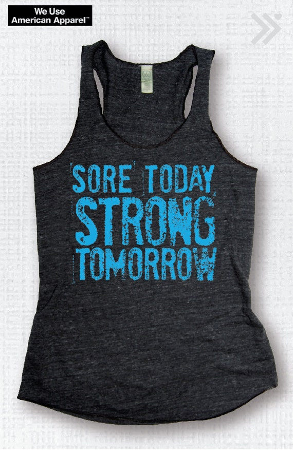Sale Small Sore Today Strong Tomorrow Charcoal Neon Blue