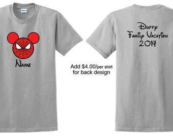 Spiderman Mickey shirt.