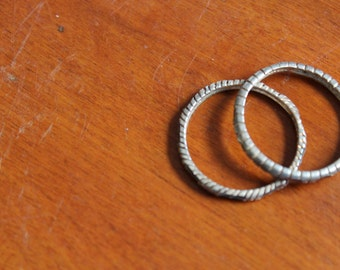 VIntage Pair of Sterling Silver Thin Band Rings