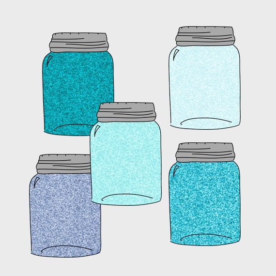 Blue Mason Jar Drawing Unavailable Listing on Etsy