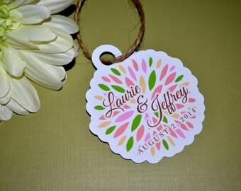 Custom Floral Burst Tags