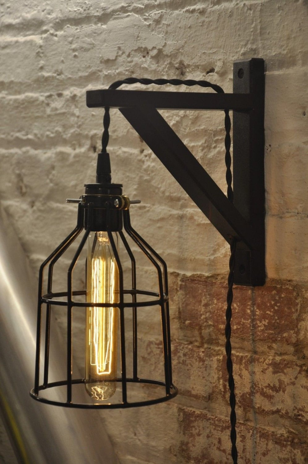 Wall Sconce Cage Lighting : Bulb Guard Wall Sconce Cage Light Lamp Industrial Retro