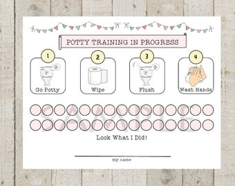 Potty chart | Etsy