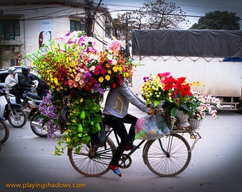 bicycles with flowers wallpaper - photo #31