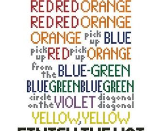 Color and Light Sondheim Lyrics Cross-Stitch Pattern Download