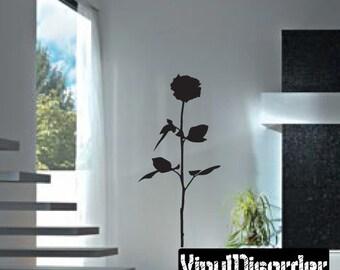 Rose Vinyl Wall Decal Or Car Sticker - Mv008ET