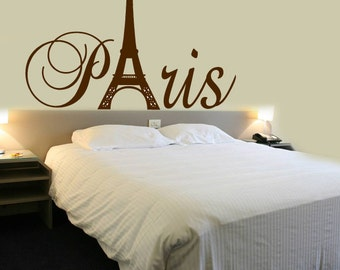 Paris Tower - Girls Room Decor - Wall Decal - Home Decor - Vinyl Lettering - Wall Saying - Sticker - patogirowadeET