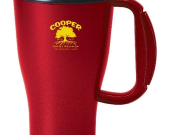 48 Family Reunion Coffee Mugs, Price Includes Coffee Mugs Printed with Your Name and Reunion Logo