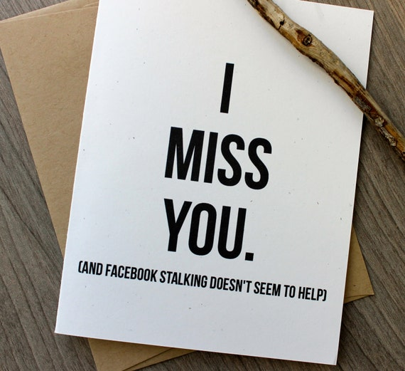 cute diy valentine's day card memes - I Miss you Card Funny I Miss you Card Thinking of you