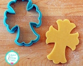 Ornate Cross Cookie Cutter & Fondant Cutter Designed by Whisked Away Cutters