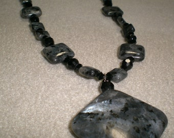 Black Labradorite Necklace